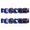 3 Cut Beads 10/0 Opaque Iris Navy